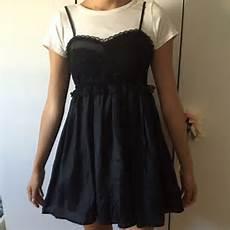 dresses aesthetic blackwhite t shirt and dress