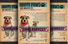 Dog Walker Flyers Dog Walkers Flyer Template Flyer Templates Creative Market