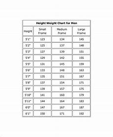 Us Government Weight Chart 7 Height And Weight Chart Templates For Men Free Sample