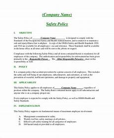 Business Policy Example Free 12 Sample Company Policy Templates In Pdf Ms Word