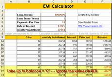 Emi Calculator Xls Sheet Download How To Calculate Emi Download Excel Emi Calculator