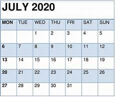 July 2020 Calendar Printable Cute July 2020 Calendar Printable Template For Kids And