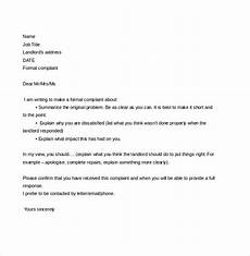 Letter To Landlord Requesting Repairs Template Complaint Letter To Landlord 8 Free Word Pdf Documents