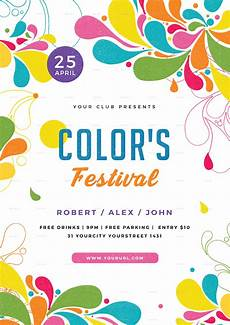 Flyer Color Color Festival Flyer By Infinite78910 Graphicriver