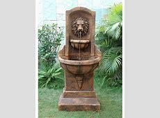 Lion head resin wall fountain £243.99