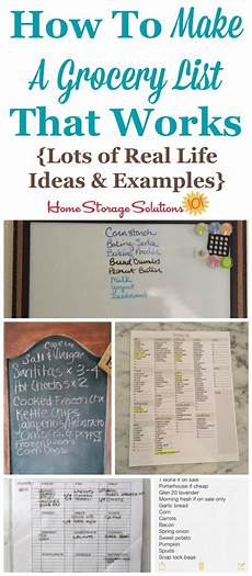 Make A Grocery List With Prices How To Make A Grocery List That Works