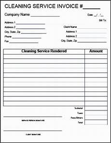 House Cleaning Invoice Template Free 10 Cleaning Service Invoice Template Sampletemplatess