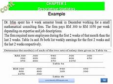 Descriptive Statistics Examples Das20502 Chapter 1 Descriptive Statistics
