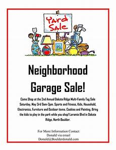 Garage Sale Flyers Examples Dakota Ridge Community Garage Sale May 3rd 2014 Oh