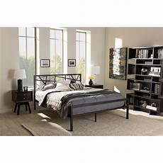 barkley metal platform bed black dcg stores