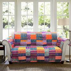 Patchwork Sofa Cover 3d Image by Orange Yellow Blue Purple Boho Patchwork Sofa Furniture