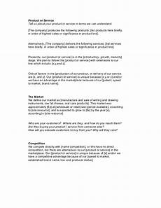Product Service Plan Startup Business Plan Template 1