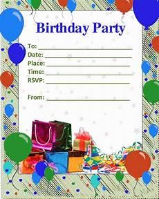 Blank Birthday Invitation Templates 52 Birthday Invitation Templates Psd Ai Free