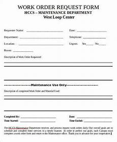 Work Order Format In Word Free 9 Sample Work Request Forms In Pdf Ms Word