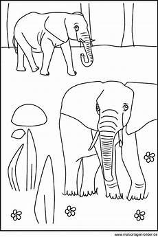 Malvorlagen Kostenlos Tiere Afrika Zwei Elefanten Als Kostenlose Ausmalbilder Und Malvorlagen