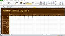Exercise Log Excel Professional Exercise Log Template Excel Exercise Log