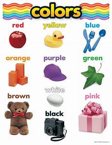 Basic Color Chart For Kids Basic Color Chart With Names Inc Teachers Essentials