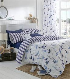 nautical boats duvet cover bedding sets or eyelet curtains