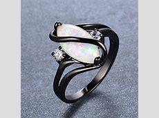 Bamos Jewelry Big Opal Women Rings Wedding Engagement