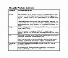 Character Sketch Essay Examples Sample Character Analysis Template 8 Free Documents In