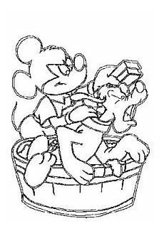 mickey maus waescht pluto ausmalbild malvorlage in der