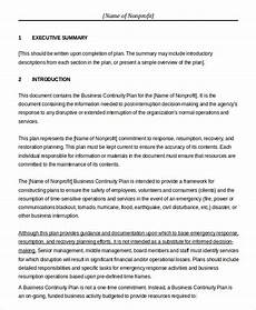 Business Plan For Non Profit Business Plan Template In Word 15 Free Sample Example