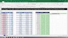 Sales Reports Excel Excel Magic Trick 1405 Monthly Totals Report Sales From