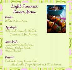 Summertime Party Menus Light Summer Dinner Recipes And Ideas For A Summer Dinner