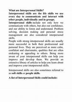 What Is The Definition Of Interpersonal Skills What Are Interpersonal Skills