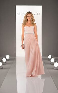 strapless chiffon bridesmaid dresses sorella vita