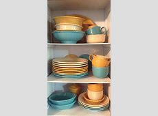 Turquoise Ivory And Marigold Fiesta Fiestaware Color