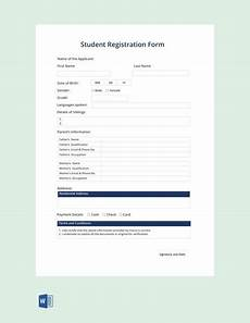 Student Enrollment Form Template Free Student Registration Form Template Pdf Word Doc