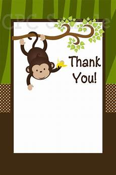 Monkey Birthday Invitations Monkey Safari Birthday Invitations Animal Invitations