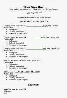 Common Resumes Resume Templates Resume Templates How To Avoid Common