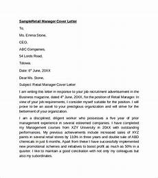 Cover Letter Retail Examples Free 9 Sample Retail Cover Letter Templates In Pdf Ms Word