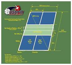 2018 Pickle Chart Pickleball Court Dimensions Guide What Is The Size Of A