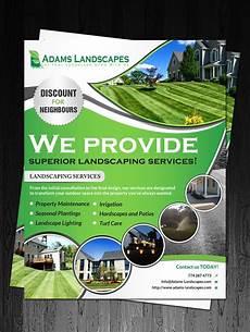 Landscaping Flyer Design Professional Bold Landscaping Flyer Design For Adams