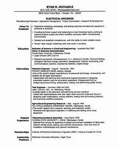 Electronics Engineer Resume Samples Electrical Engineering Entry Level Resume Samples