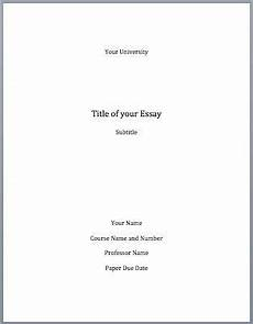 Term Paper Cover Page Format The Modern Language Association Mla Does Not Require You