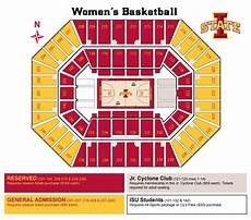 Iowa Basketball Seating Chart Facility Seating Charts Iowa State University Athletics