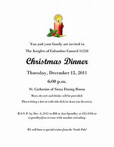 Invitation Letter Christmas Party Christmas Dinner Invitation