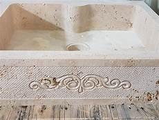 lavello travertino ripiano cucina in travertino con lavello petram