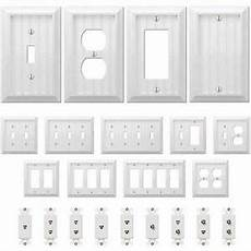 Cottage Light Switch Covers Country Cottage White Wood Wall Switch Plate Power Outlet