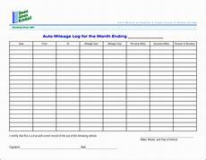 monthly receipt template 8 printable vehicle mileage log template
