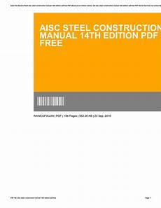 Steel Construction Manual 14th Edition Pdf Aisc Steel Construction Manual 14th Edition Pdf Free By