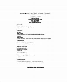 Resume For Teenager Template Sample Teenage Resume 5 Examples In Word Pdf