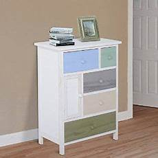 homcom wood storage cabinet chest of drawers unit wooden