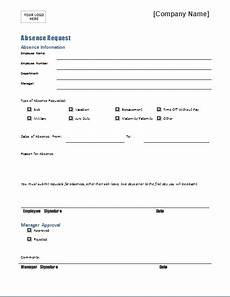 Absence Request Form Template Employee Absence Request Form Template For Word Document Hub