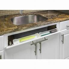 set of 2 14 quot kitchen cabinet sink tip out tray sponge