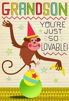 Cards Of Happy Birthday Monkey Birthday Card For Grandson Greeting Cards Hallmark